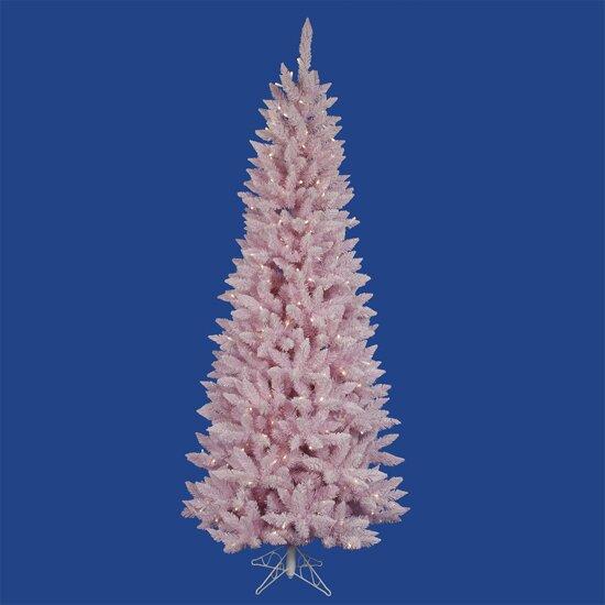 Vickerman 7.5'Flocked Cupcake Pink Spruce Christmas Tree with LED ...