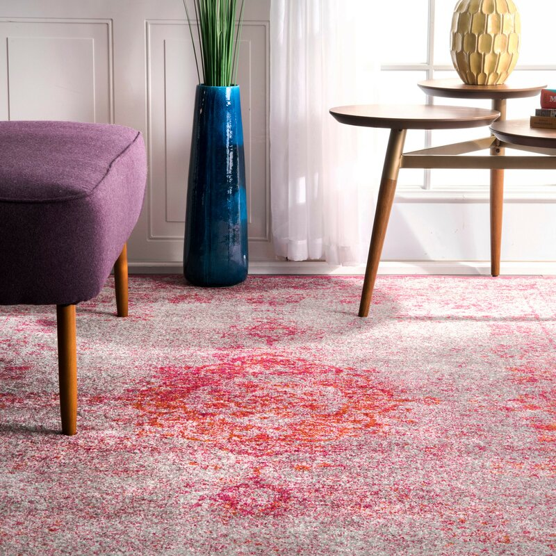 Mistana Padilla Pink Area Rug & Reviews | Wayfair