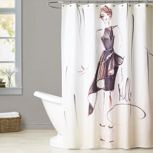 Abington Contemporary Frills Single Shower Curtain