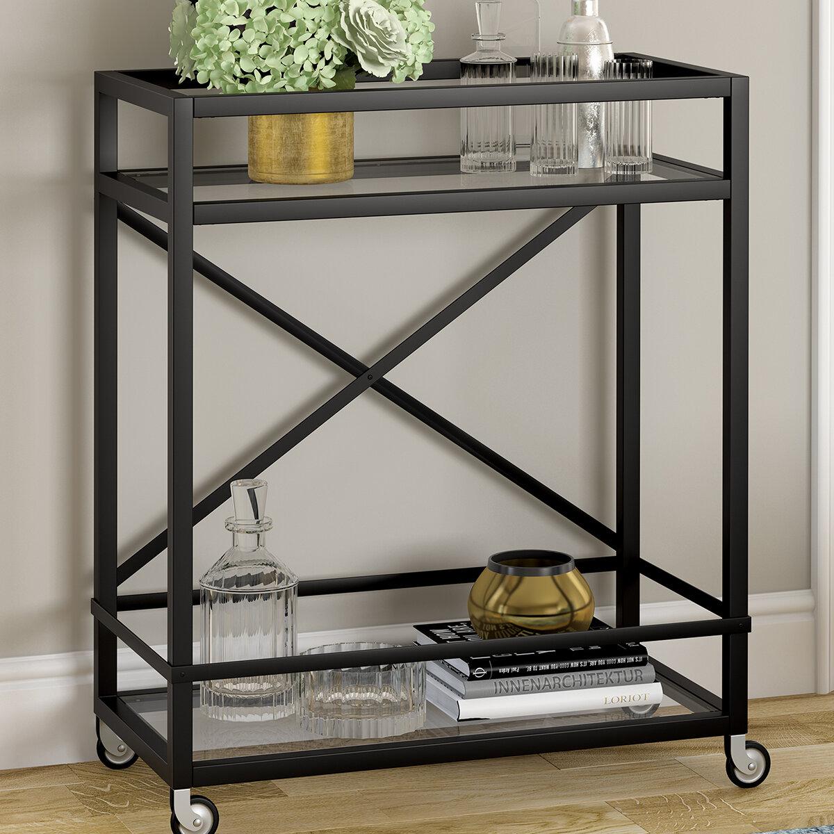 Ebern Designs Melora Bar Cart Reviews Wayfair