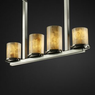 Conovan 4-Light Pendant by Rosecliff Heights