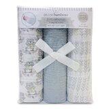 Diller Muslin Swaddling 100% Cotton Baby Blanket (Set of 3)