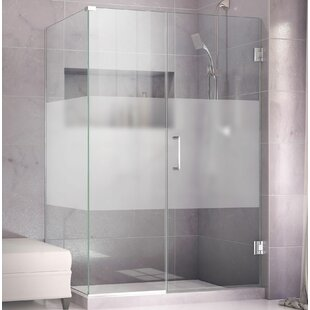 Unidoor Plus 37 x 72 Hinged Frameless Shower Door with Clear Max Technology by DreamLine