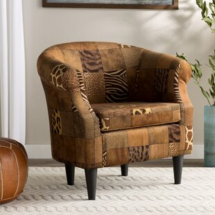 Ronda Traditional Animal Print Barrel Chair