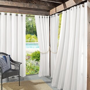 Roku Solid Room Darkening Outdoor Grommet Single Curtain Panel by Sun Zero Outdoors