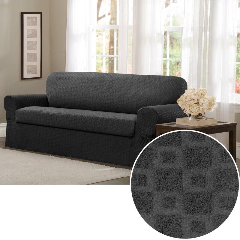 Darby Home Co Box Cushion Sofa Slipcover Reviews Wayfair