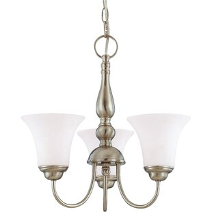 Charlton Home Yale 3-Light Shaded Chandelier