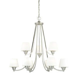 Ebern Designs Newlon 9-Light Shaded Chandelier
