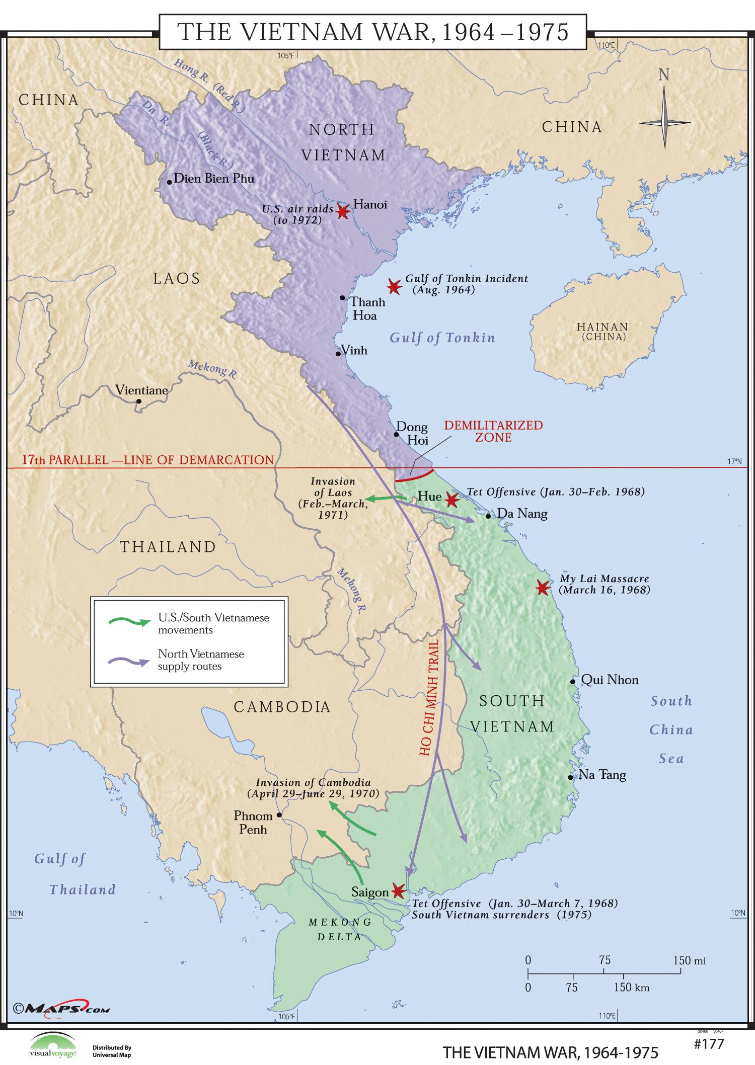 Universal map world history wall maps vietnam war 1964 75 wayfair gumiabroncs Image collections