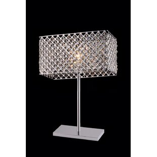 Conradine Rectangular Crystal 28 Table Lamp