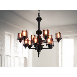 CWI Lighting Norma 12-Light Shaded Chandelier