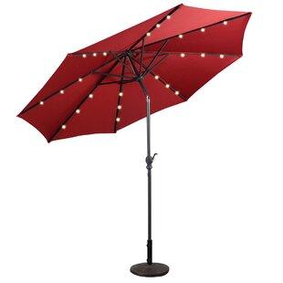Baggett Patio Solar 10' Market Umbrella by Ebern Designs