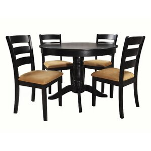 Oneill Modern 5 Piece Ladder Back Dining Set by Andover Mills