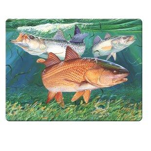 Glass Redfish Cutting Board