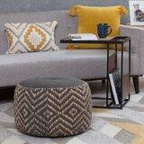 Grasser 20'' Round Geometric Pouf Ottoman by Foundry Select
