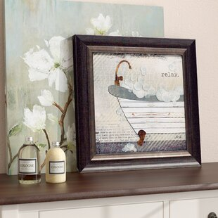Exceptionnel U0027Relax Texture Coated Bathroomu0027 Framed Graphic Art Print