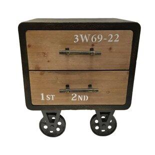 Affordable 2 Drawer Vintage Industrial Cabinet Chest ByThe Urban Port