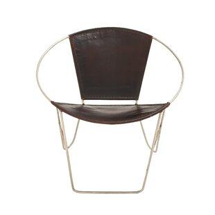 Cole & Grey Metal Papasan Chair (Set of 2)