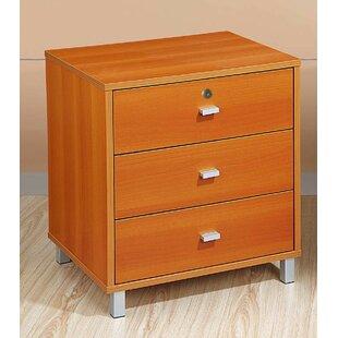 Ebern Designs Goodland 3 Drawer Nightstand
