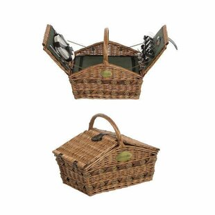 Lifestyle Double Lidded 4 Person Fitted Picnic Basket By Brambly Cottage