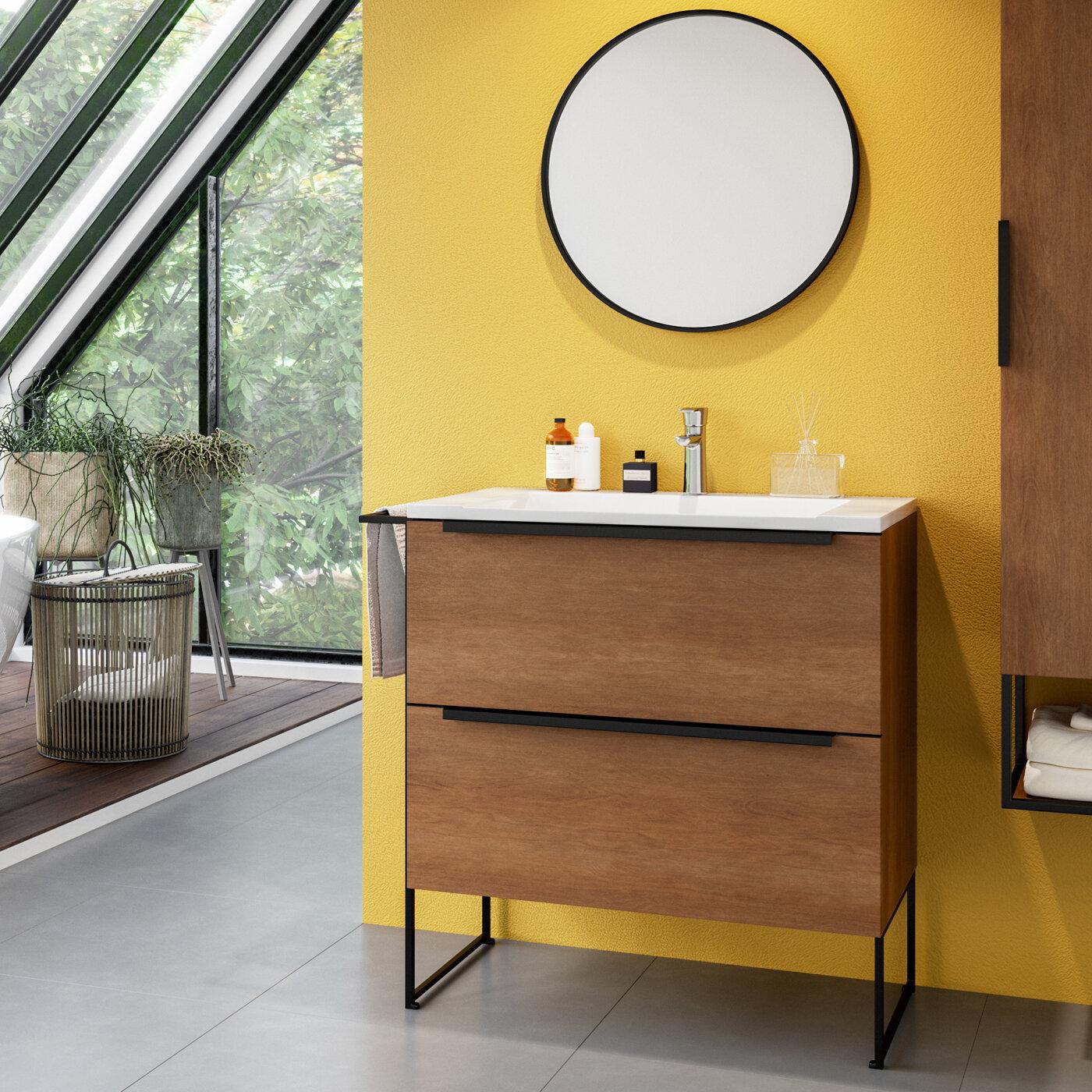 Belfry Bathroom Corington 800mm Free Standing Single Vanity Unit Wayfair Co Uk