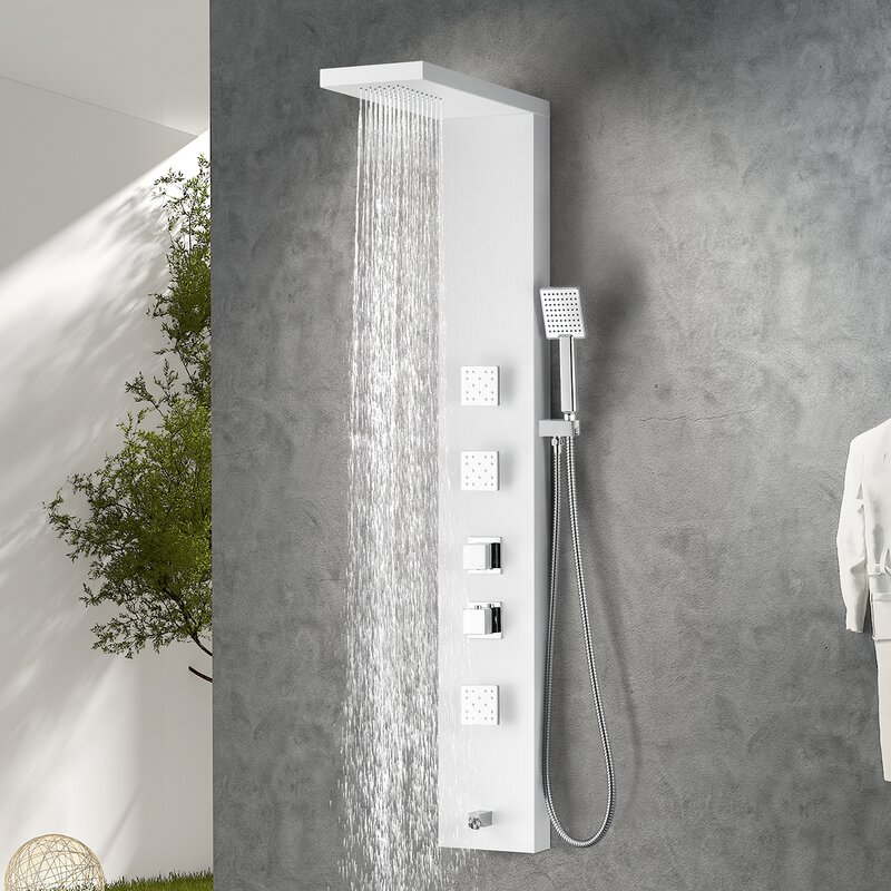 ANZZI Delta Series Fixed Shower Head Shower Panel System & Reviews ...
