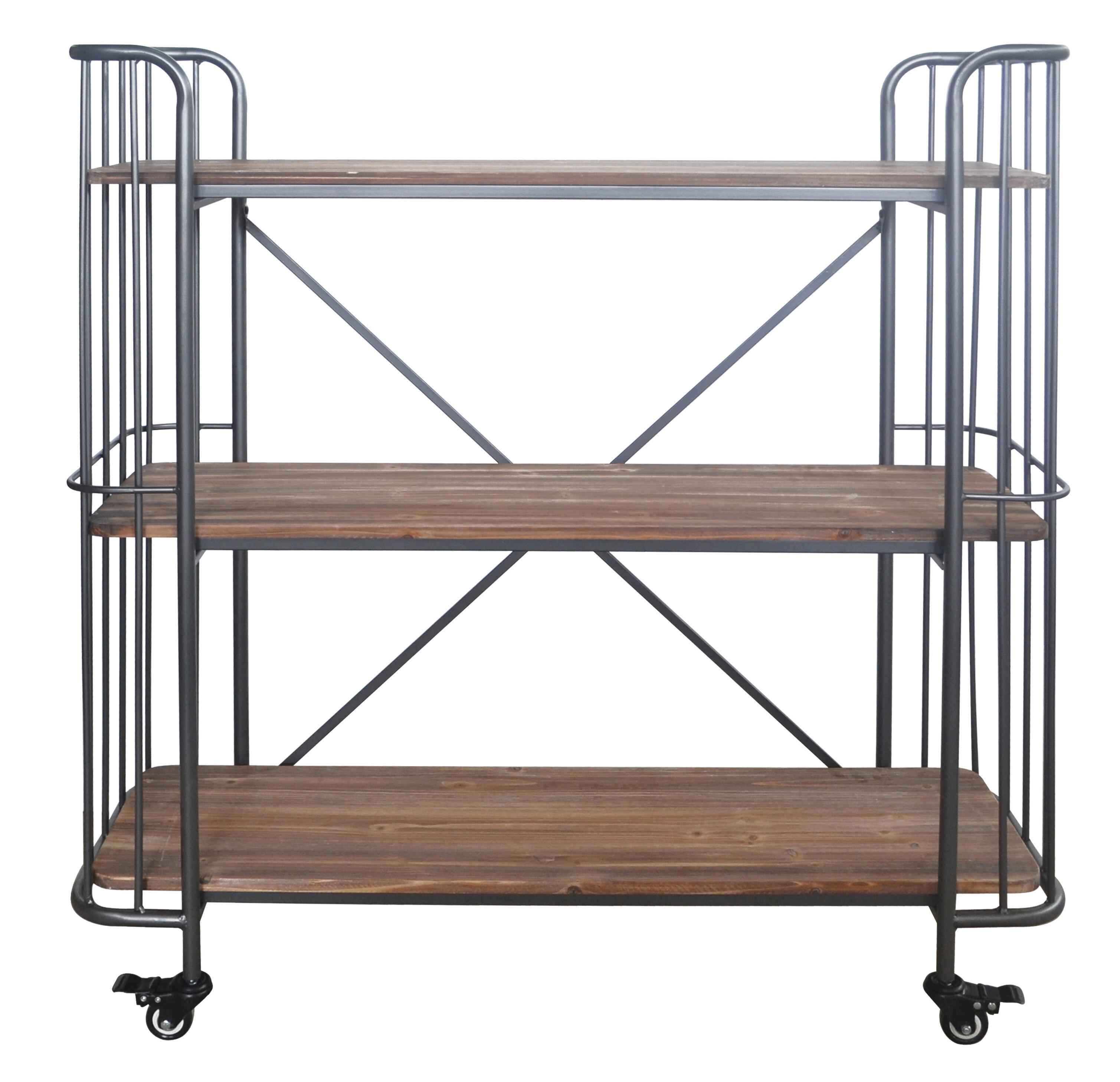 metal pdx stories reviews wayfair wood furniture bar rectangular cart alexsa shelf tier