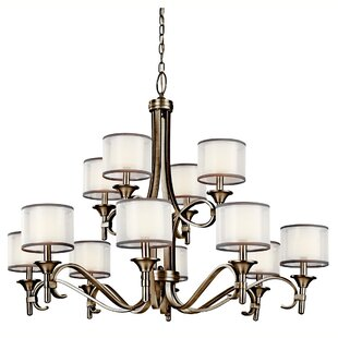 Darby Home Co Boswell 12-Light Shaded Chandelier