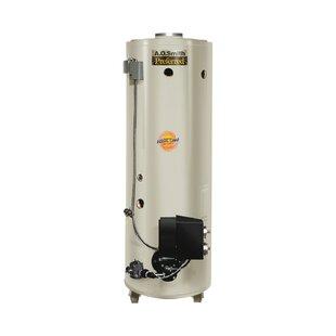 Commercial Tank Type Water Heater Nat Gas Conservationist 370000 BTU Input Powered Burner