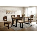 Ashling Dulce 6 Piece Solid Wood Dining Set