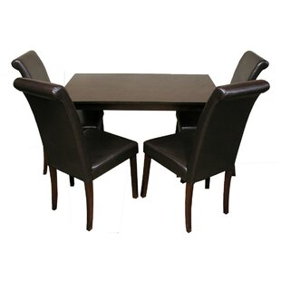 5 Piece Solid Wood Dining Set Warehouse of Tiffany