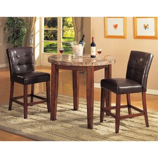 Lovelady 3 Piece Pub Table Set by Red Bar..