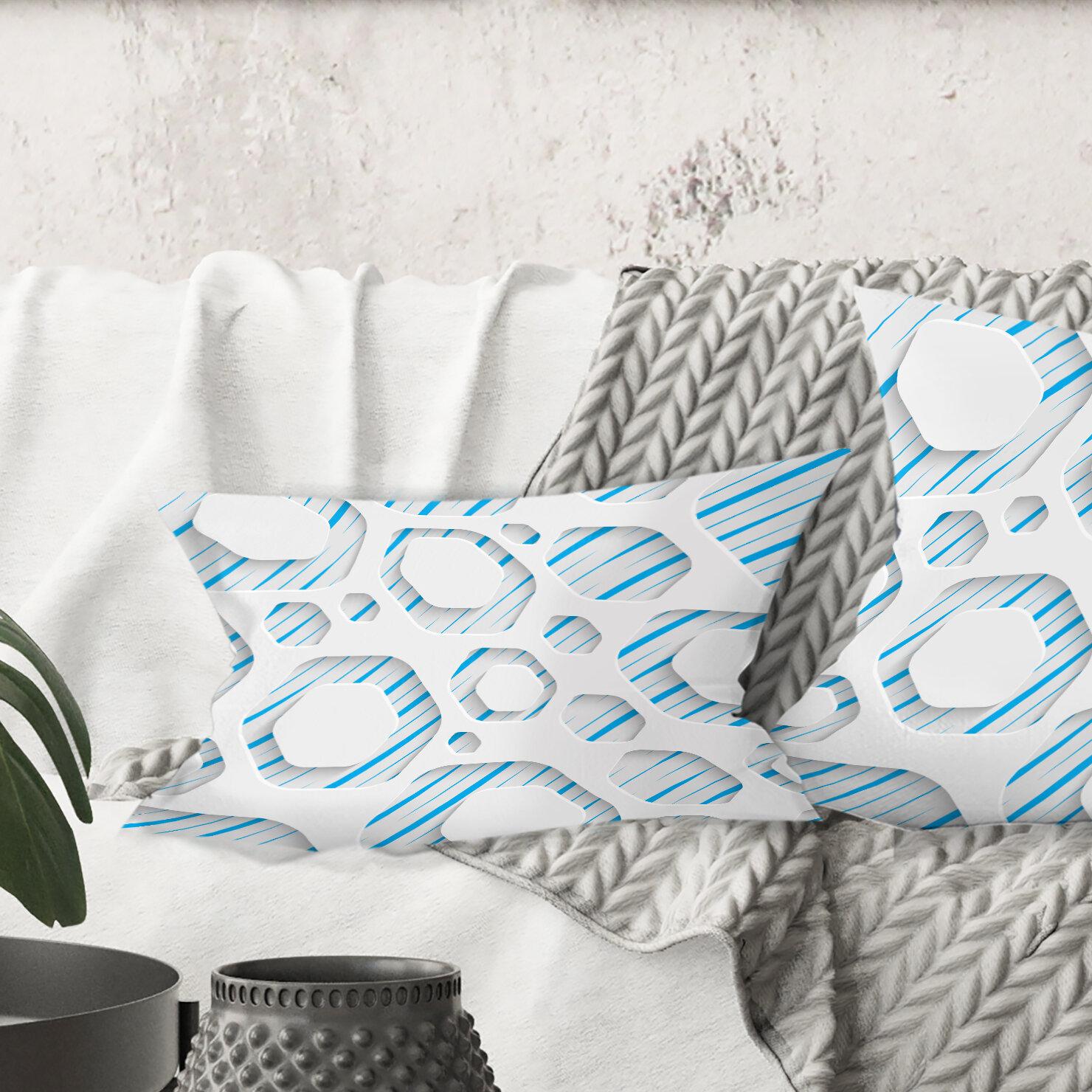 East Urban Home 3d Pattern Iv Lumbar Pillow Wayfair