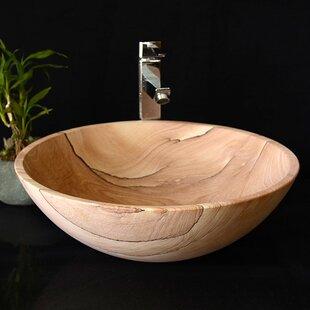 Stone Circular Vessel Bathroom Sink ByY Decor