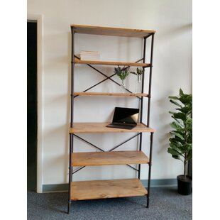 Ozuna Metal/wood 6-Tier Shelf Etagere Bookcase