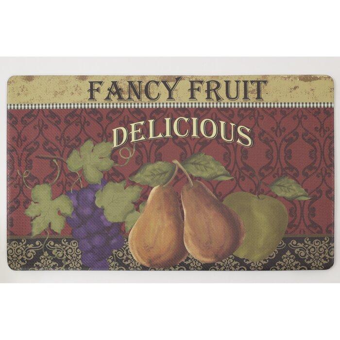 Fancy Fruit Comfort Chef Kitchen Mat