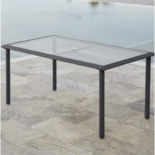 Edwards Glass Dining Table by Highland Du..