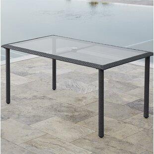 Edwards Glass Dining Table by Highland Du..