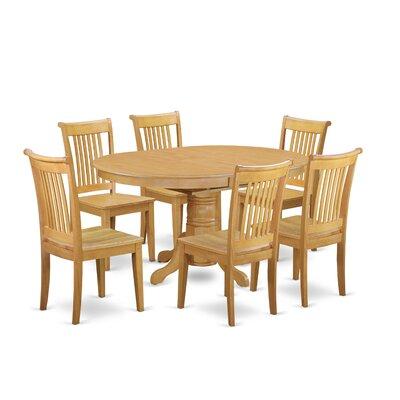 Emmaline 7 Piece Solid wood Dining Set Alcott Hill Color: Oak