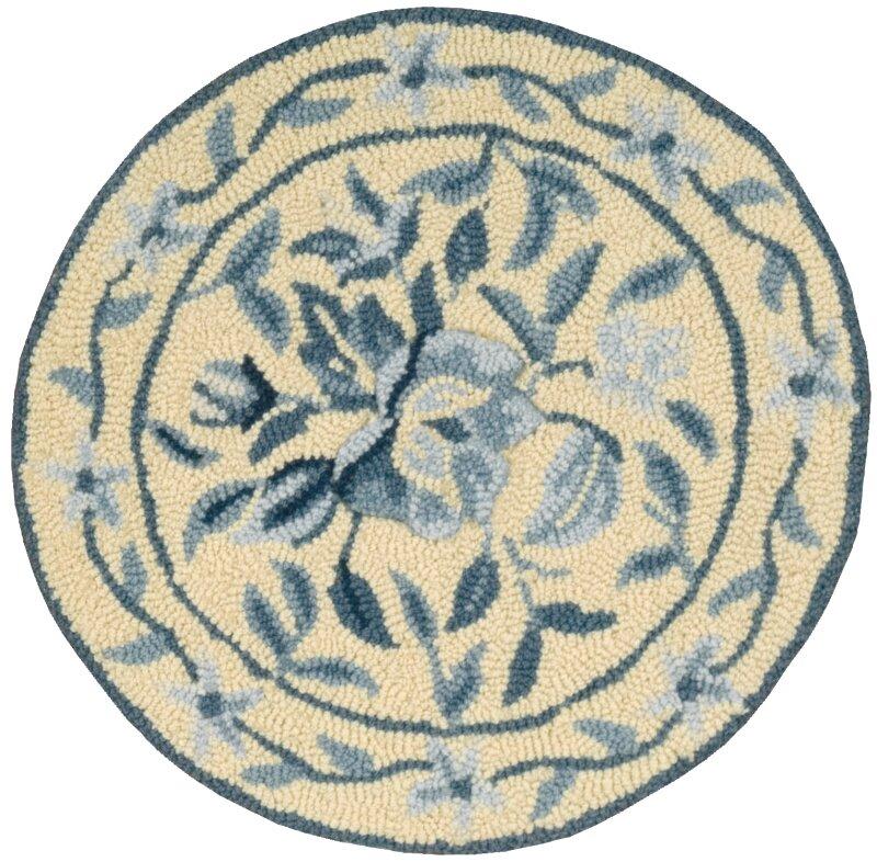 August Grove Ingalls Hand Tufted Yellow Blue Area Rug Wayfair