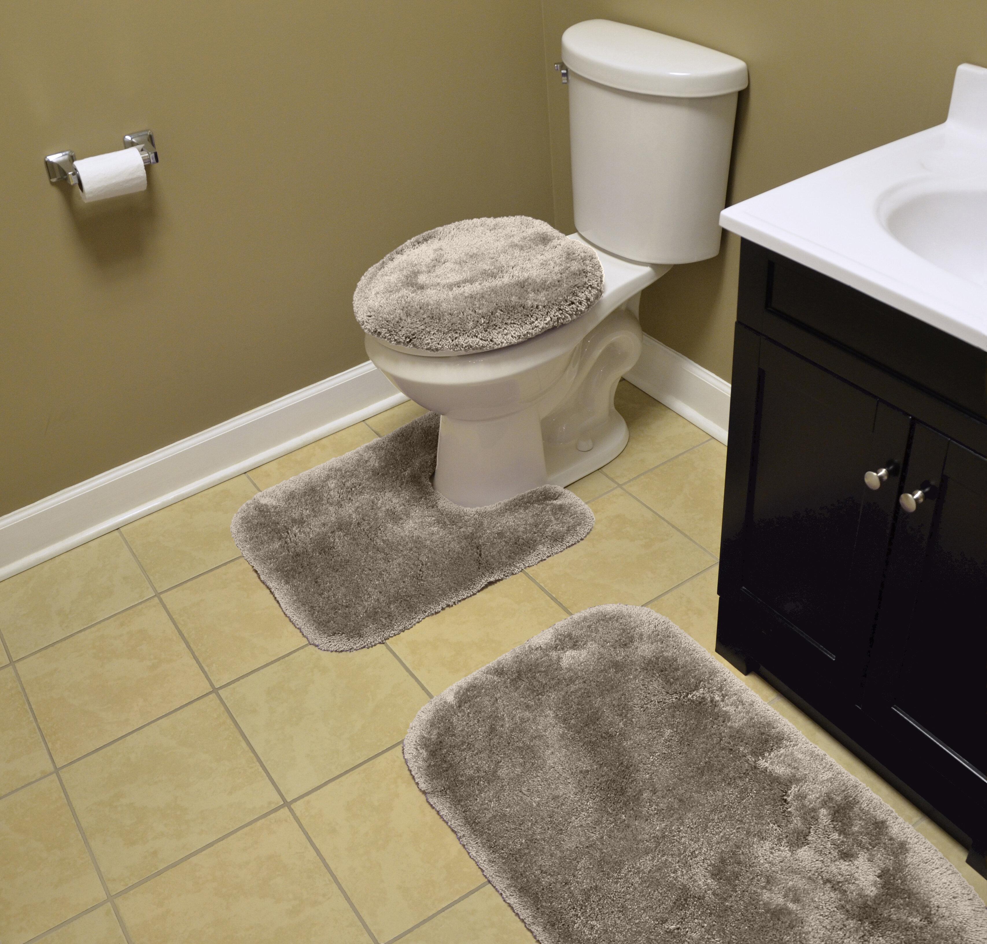Wildon Home Deyor Multiple Nylon Non Slip 3 Piece Bath Rug Set Reviews Wayfair