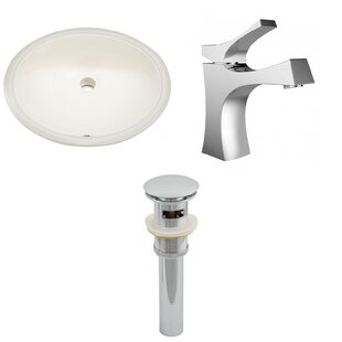 Compare prices Ceramic Oval Undermount Bathroom Sink with Faucet and Overflow By Royal Purple Bath Kitchen