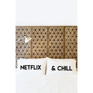 2 Piece Netflix and Chill Pillowcase Set