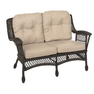 Rubalcava Garden Patio Loveseat with Cushions by August Grove