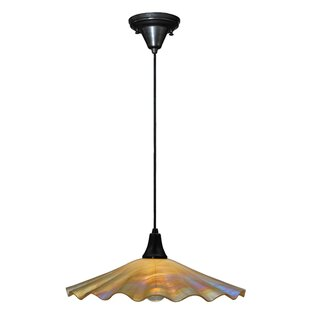 Metro Galatia Scalloped Iridescent 1-Light Cone Pendant by Meyda Tiffany