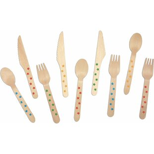 Birchwood Flowers Print 200 Piece Flatware Set