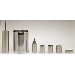 Compare prices Two Tone Stainless 5-Piece Bathroom Accessory Set By Moda At Home