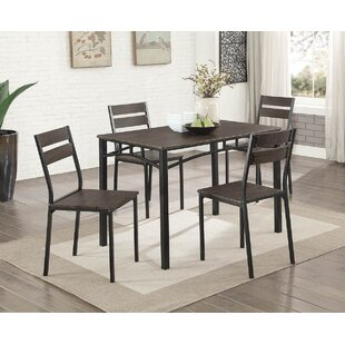 Gracie Oaks Autberry 5 Piece Dining Set