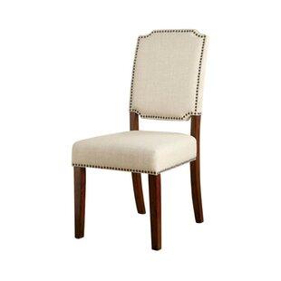 Alcott Hill Krouse Wooden Upholstered Dining Chair (Set of 2)