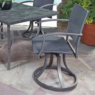 Stone Veneer Swivel Patio Dining Chair